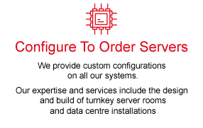 Configure to order servers