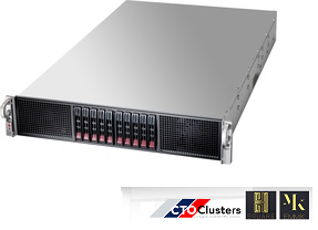 HSQUARE-6144 Cluster Node  - 2u Rack Server w/  4x NVIDIA Tesla K10 -  Machine Learning
